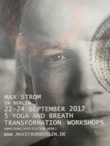 Plakat Yogalehrer Fortbildung mit Max Strom